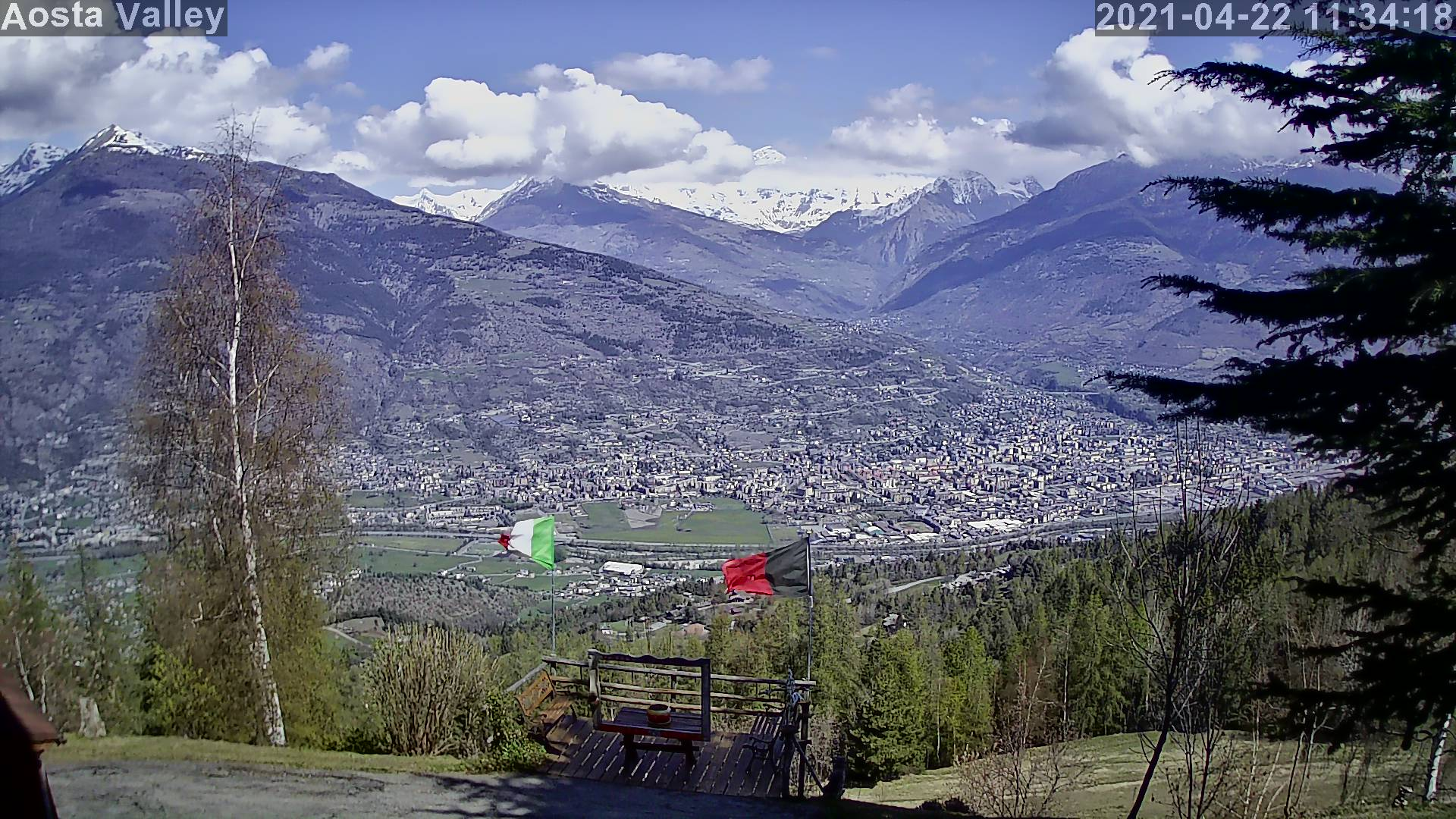Webcam - Hotel Tivet - Aosta panorama